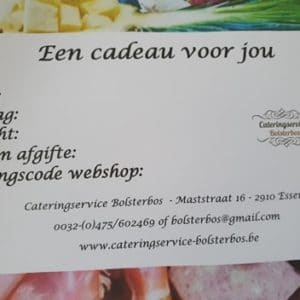 Cateringservice Bolsterbos geschenkbon